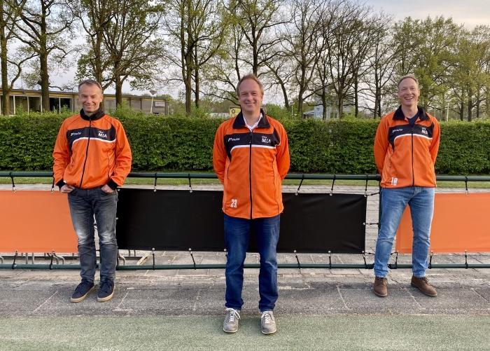 De nieuwe selectietrainers van MIA, v.l.n.r.: Menno Veenstra, Ale Meijer en Mark Siderius