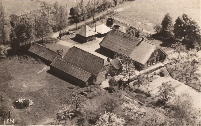 Boerderij de Bieshaar kort na WOII.
