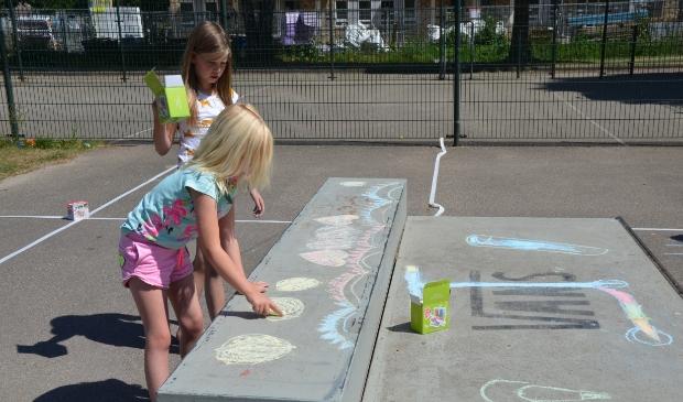 Stoepkrijt Challenge in het Eigenwijks Speelpark