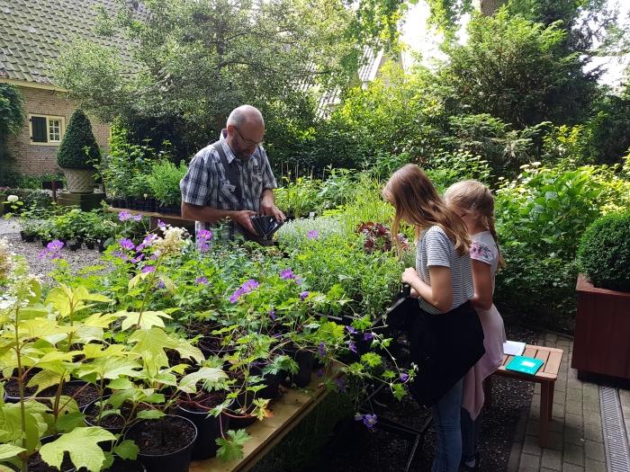 Plantenverkoop voor goede doel tijdens open tuin