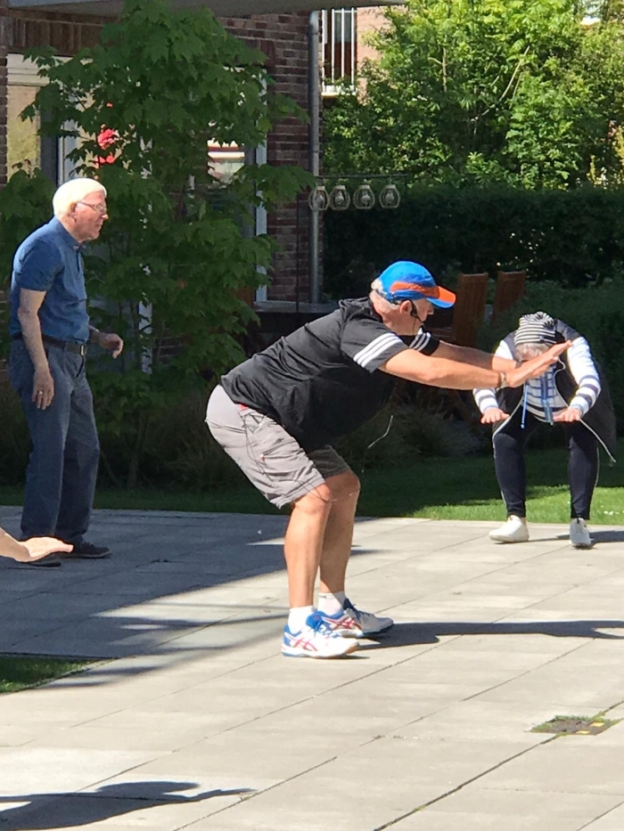 Richard Samson geeft gymles F.v.d. Linden © BDU media