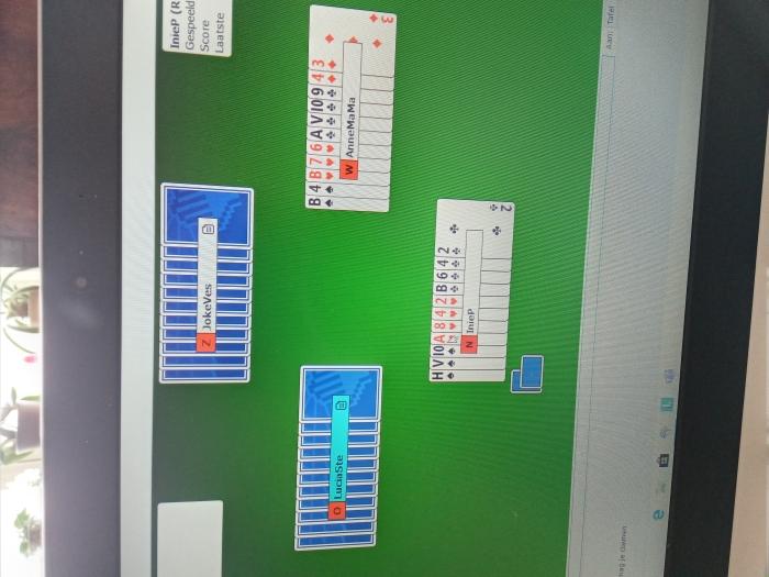een computer bridgescherm
