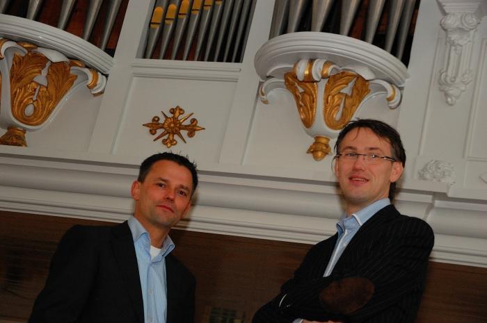 Organisten André van Vliet en Marco den Toom