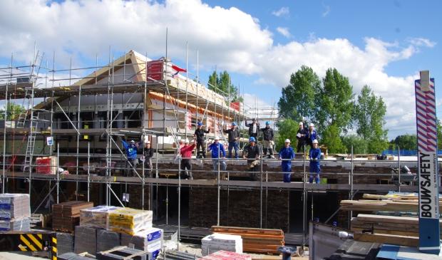 Het hoogste punt van hospice De Cirkel voor de Alblasserwaard in Papendrecht is bereikt.
