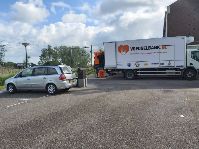 Lossen vrachtwagen Centraaldepot Rotterdam