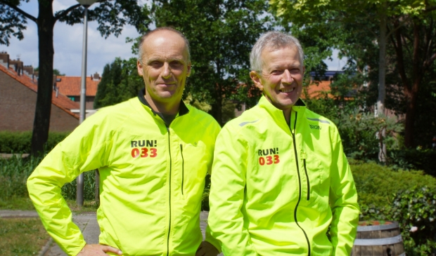 Mik Borsten (l) en Jaap Hengeveld (r) van Run033.com zien wel mogelijkheden voor hardloopevenementen.