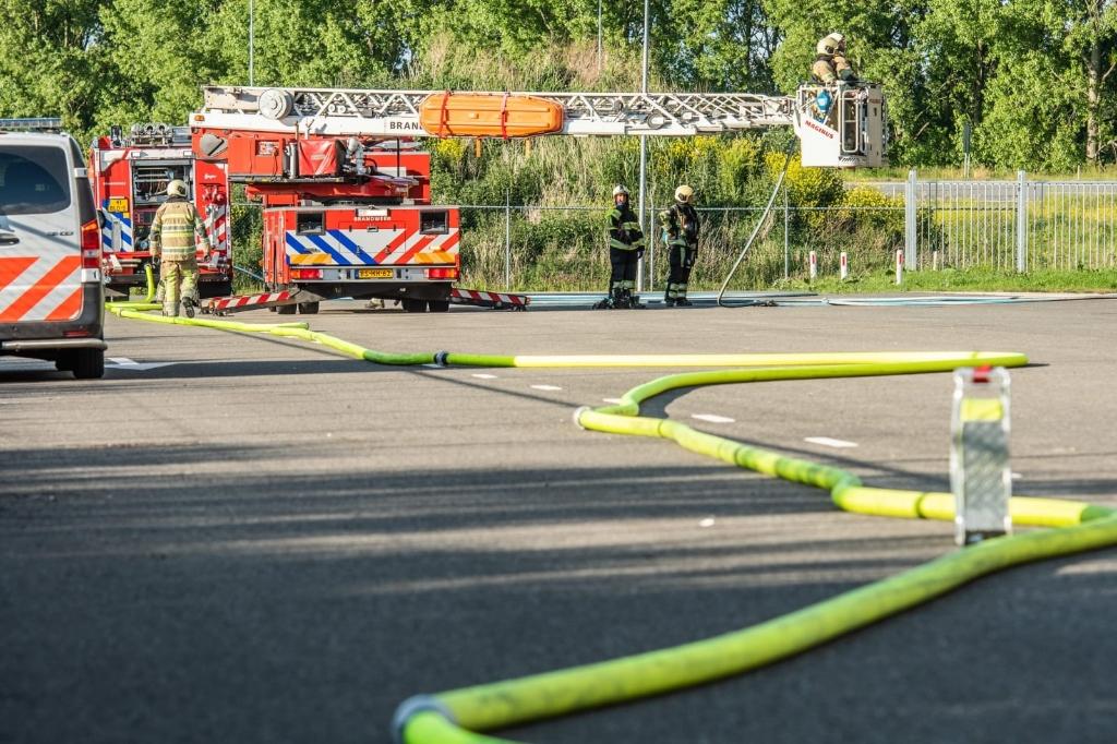 Brand op het dak bij de zoutopslag van Rijkswaterstaat Koen Laureij © BDU media