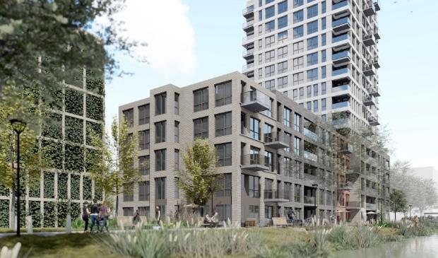 Het nieuwe woongedeelte telt 267 woningen, waarvan 95 sociale huurwoningen.