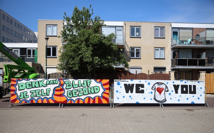 Het eindresultaat van het kunstwerk voor de bewoners van het E&E.