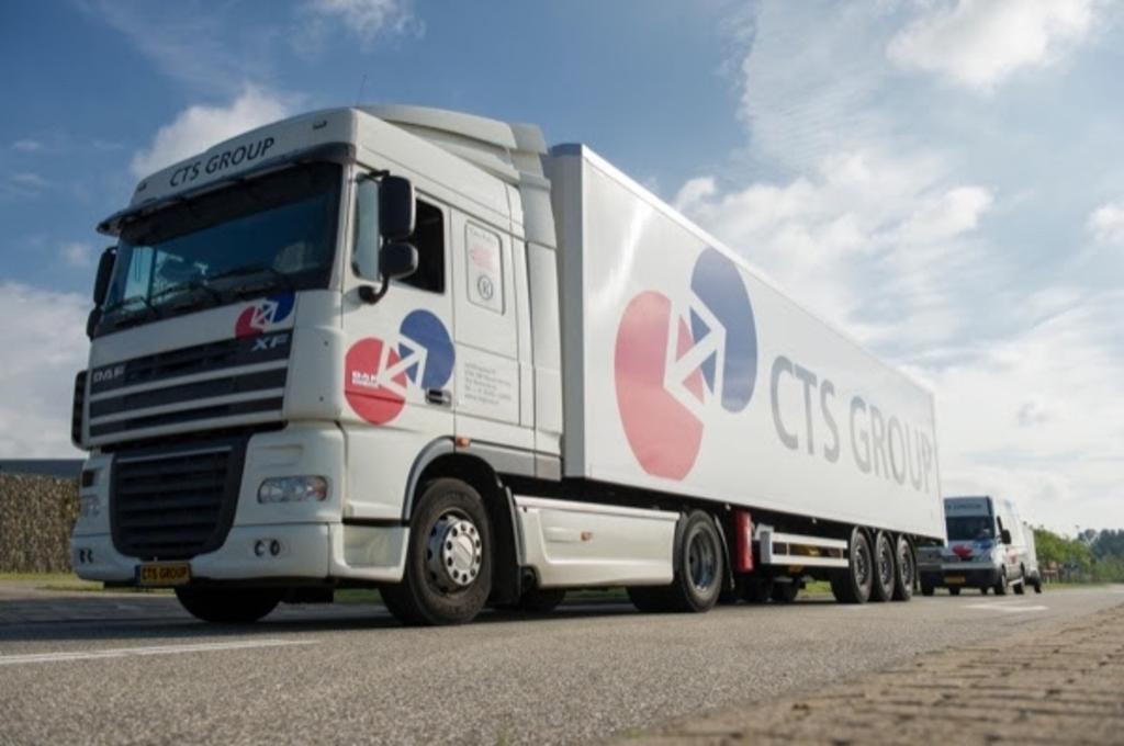 Vrachtwagen van CTS GROUP. Eigen foto © BDU media