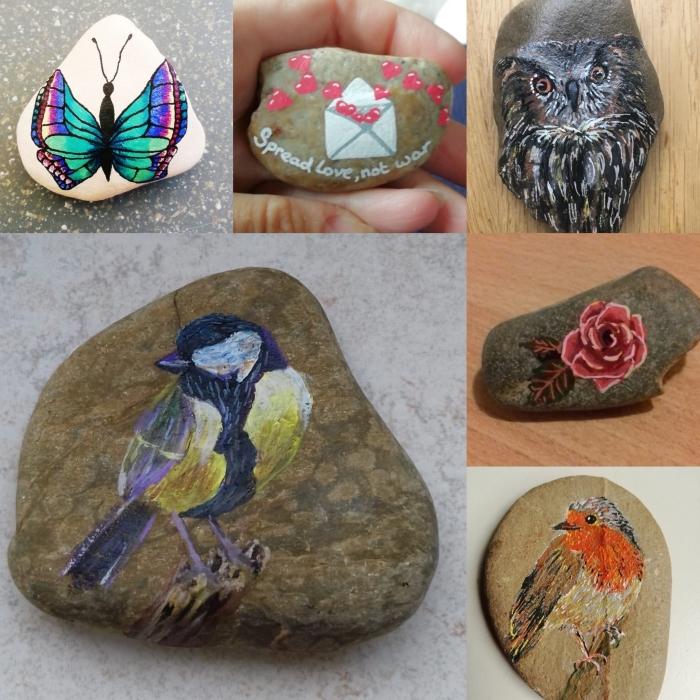 Voorbeelden beschilderde stenen Amanda ten Cate © BDU media