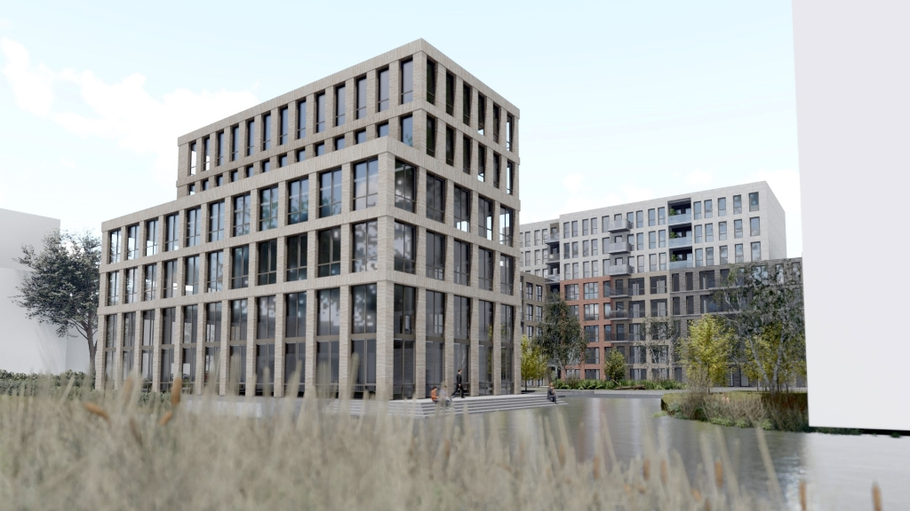 Het nieuwe kantoor.  Smink Vastgoed, Van Wijnen en Portaal © BDU media