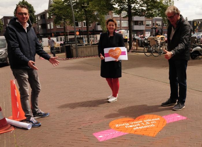 Stichting Binnenstadsmanagement Ede: Xander Haalboom, Jacky van de Pol en Ernst Steinmeier.