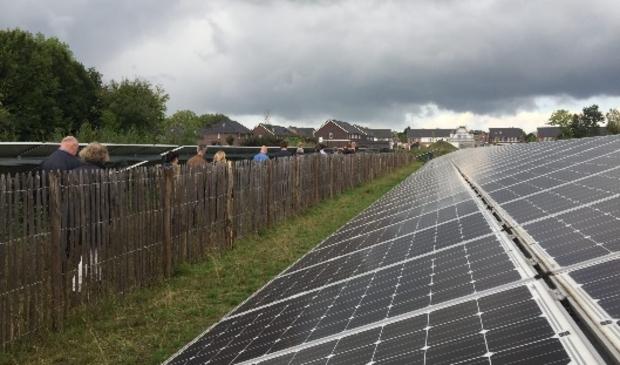 Actie tegen zonnepanelen aan de Groenewoudseweg