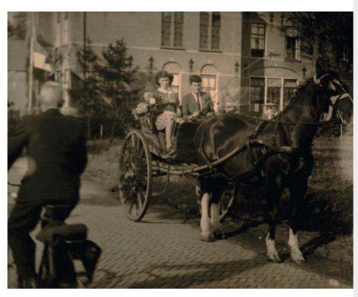 René en Annie van Eijden op Koninginnedag 1946.   Archief familie van Eijden © BDU media