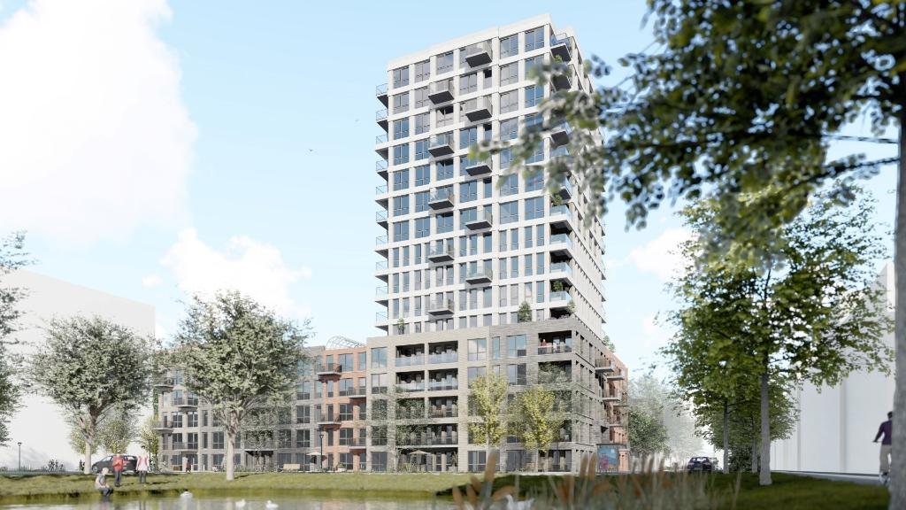Het nieuwe woongedeelte telt 267 woningen, waarvan 95 sociale huurwoningen.  Smink Vastgoed, Van Wijnen en Portaal © BDU media
