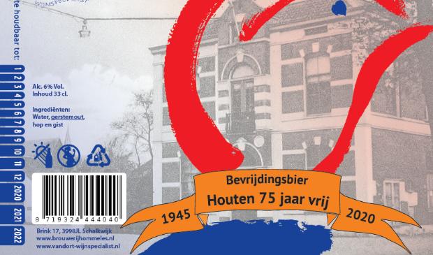 Het etiket van het Bevrijdingsbier Rina Knopper © BDU media