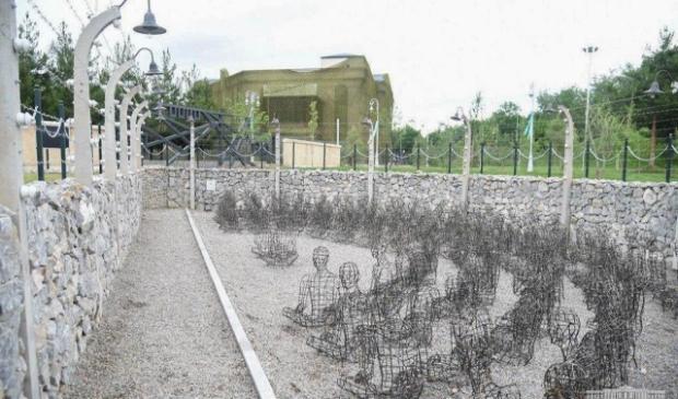 Verbeelding van de 101 in het Overwinningspark in Tasjkent.