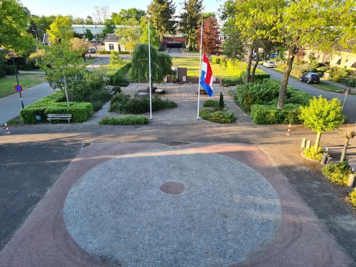 Een blik op het lege plein vanaf de Raadhuiszolder M.R. Pieters - SVRM © BDU