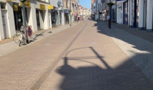 <p>Lege straten in de binnenstad door gesloten winkels en horeca</p> <p>Gemeente Gorinchem</p> © BDU Media
