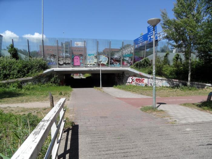 Vanuit Duivendrecht/Entradafietstunnel A10 naar Amsterdam Chris van der Linden © BDU media