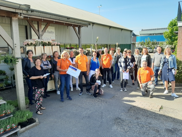 Medewerkers van Mantelzorg & Meer, MEE Amstel en Zaan en de Rabobank Regio Schiphol