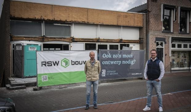 Sjoerd Roza en RSW bouw sloegen de handen ineen om van het gebouw aan de Peulenstraat iets moois te maken.