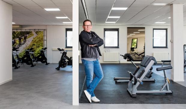 Herman Kuijt op de nieuwe bovenverdieping van Sportcentrum Sunfit