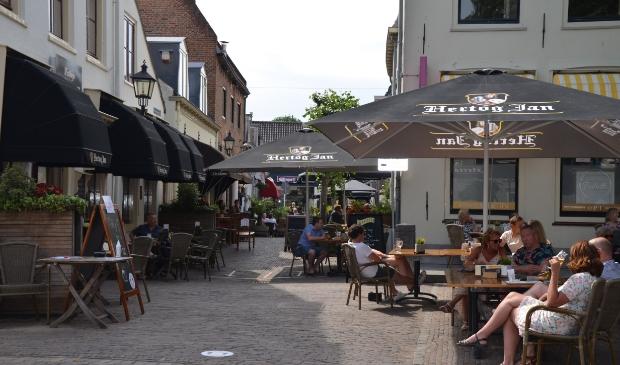 <p>Terrassen in de Maleborduurstraat</p>
