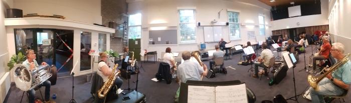 Repetitie van het harmonieorkest