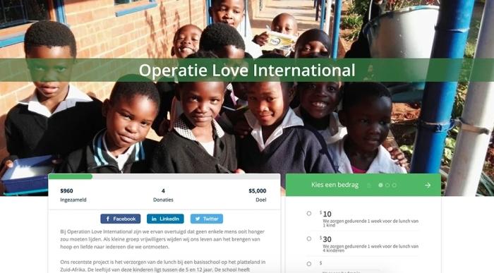 Online Donatie op website