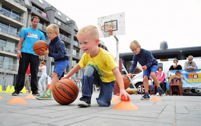basketballende kids