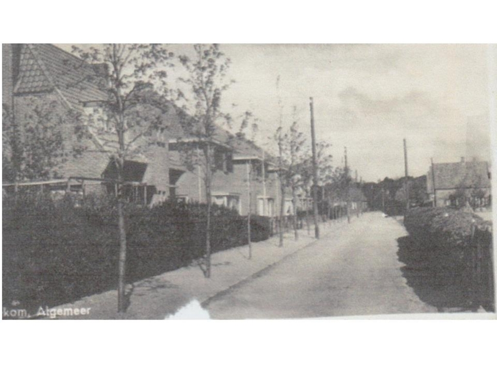 Woningen aan de Algemeer in Bennekom. Op nummer 31 woonden Toon en Jansje de Bond. Familie De Bond © BDU Media