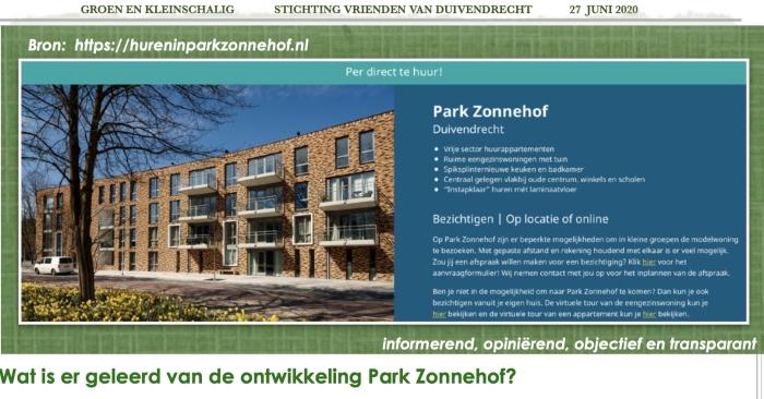 Wat is er geleerd van Park Aonnehof?