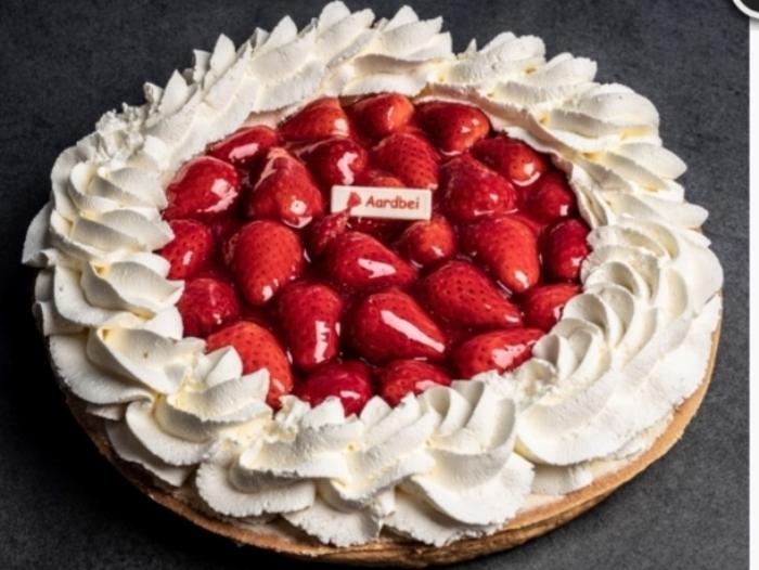 Aardbeienvlaai met slagroom Marieke © BDU Media