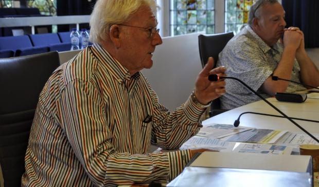 <p>Ap Cloosterman tijdens de commissievergadering van 24 juni.</p>