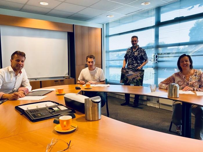 Van links naar rechts Henk-René Timmer, Marius Vierwind, Gerben Vierwind en Marieta Peek. WSP © BDU media