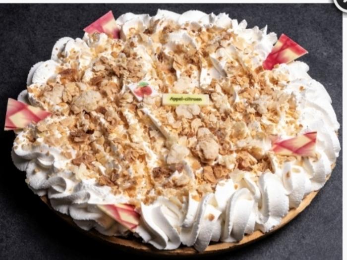 Appelcitroenvlaai met slagroom Marieke © BDU Media