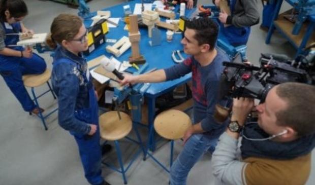 In februari maakte de NOS tv opnames op 't Gilde vakcollege