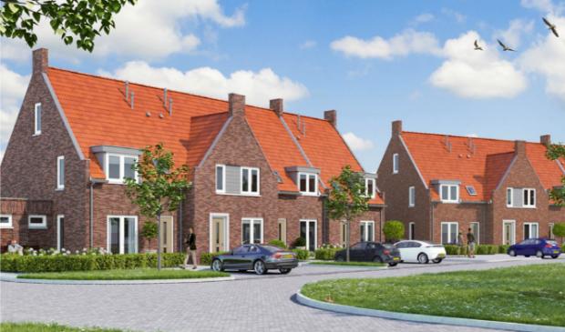 Een ontwerp voor woningen in het te ontwikkelen plan Erf Collins nabij de Nederwoudseweg.
