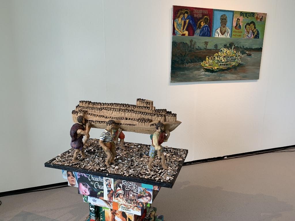 Een gedeelte van het kunstwerk 'Burgers van Dhaka' van kunstenaar Ulric Roldanus. Lotte van den Berg © BDU media