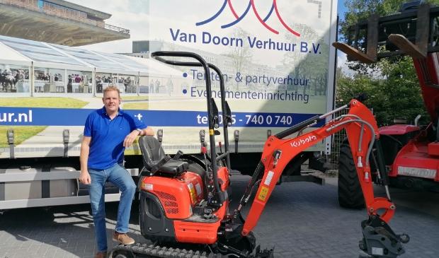 """Bart van Doorn: ,,Wij zorgen dat al het gehuurde materiaal op locatie komt."""""""