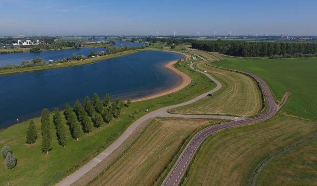 Lekdijk tussen het Culemborgse Veer en de Beatrixsluis