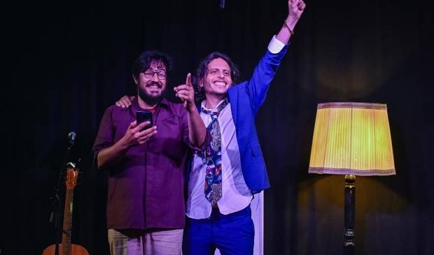Sahand Sahebdivani (links) en Raphael Rodan vertellen volgende week hun verhalen in het Bostheater.