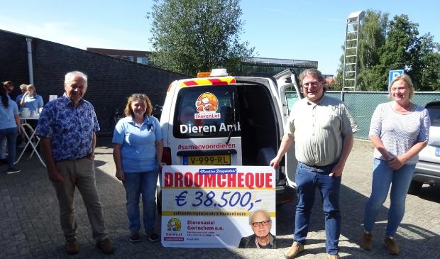 Het Dierenasiel Gorinchem kreeg donderdag 30 juli een mooie verrassing.