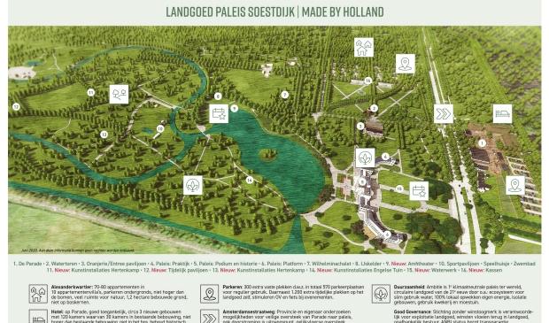 De plannen voor landgoed Soestdijk. MeyerBergman Erfgoed Groep © BDU media