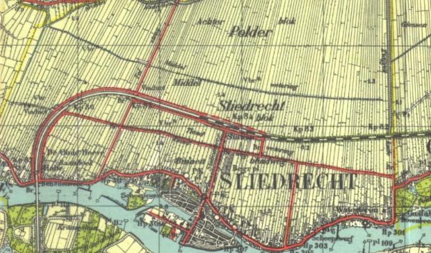 Stafkaart Sliedrecht  mei 1940.