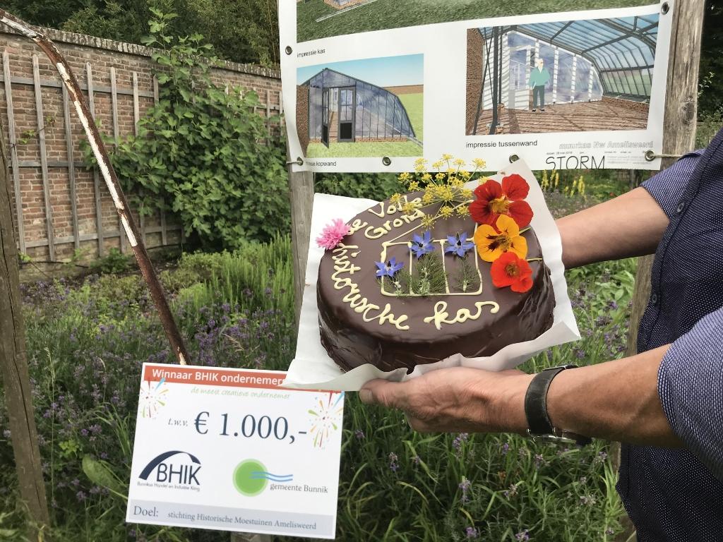 Impressie van de muurkas met op de achtergrond de historische tuinmuur. De Veldkeuken © BDU media