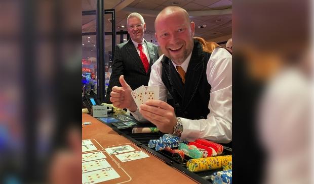 Hans-Peter van Os en Branco Bakels van Holland Casino Zandvoort.