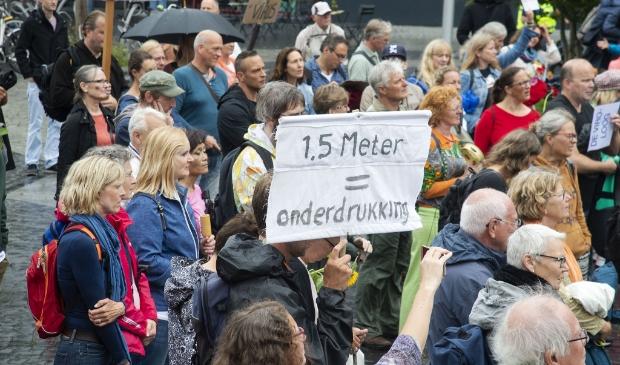 <p>Demonstratie tegen corona maatregelen</p>